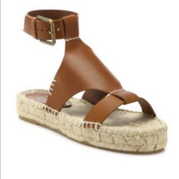 5dc1762ffb3 Soludos Banded Shield Leather Espadrille Sandals. M 5c731ebade6f6255312b24e2